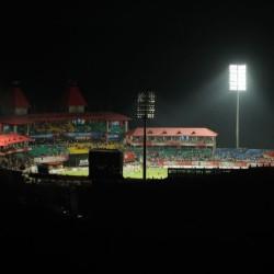 Night view of  Dharamshala Cricket Stadium, May 15th, 2011