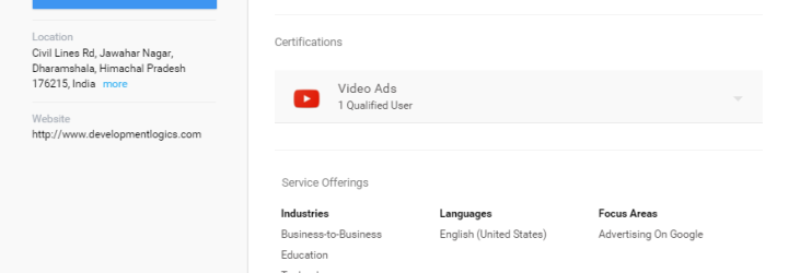 Development Logics : a Google Partner and Adwords certified agency